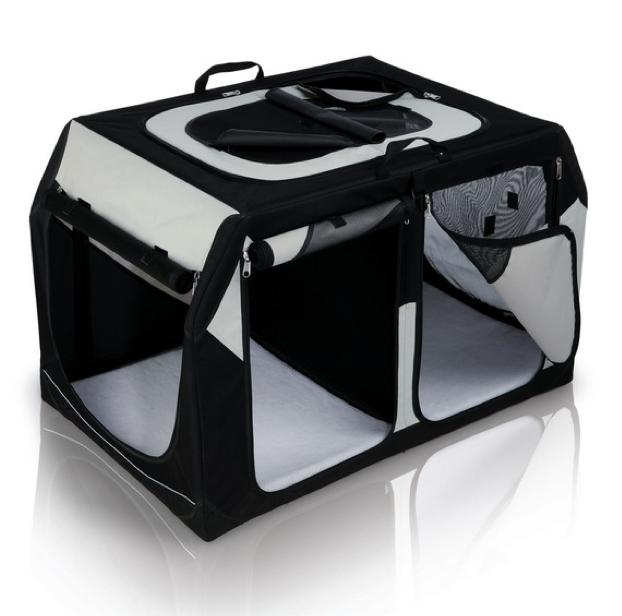 transportbox vario double pkw kofferraum hunde transportbox vario hundetransportbox faltbar. Black Bedroom Furniture Sets. Home Design Ideas