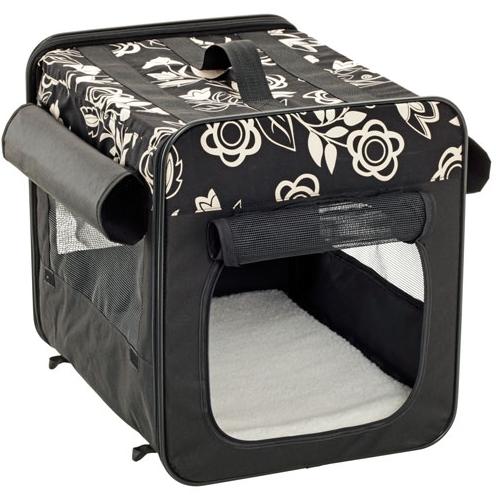 smart top floral zusammenklappbar s m hundebox hundeshop. Black Bedroom Furniture Sets. Home Design Ideas
