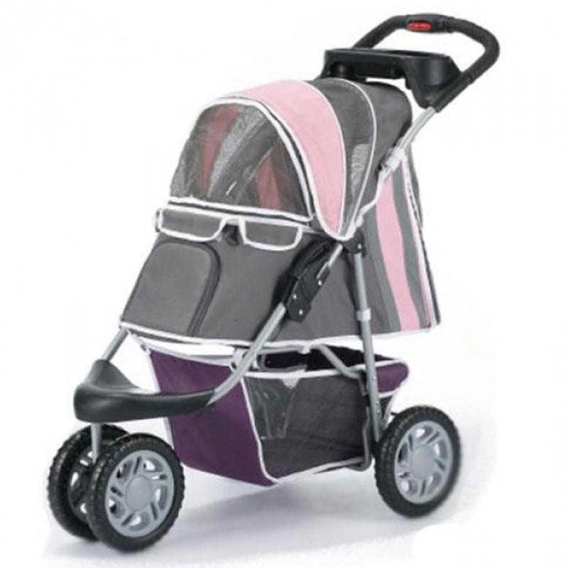 innopet buggy first class hundebuggy hundewagen pet stroller pink hundeshop auto reise. Black Bedroom Furniture Sets. Home Design Ideas