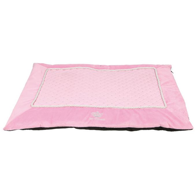 kuschel liegeplatz hundedecke hundebett welpenkissen mit kurzhaar pl sch rosa hundeshop. Black Bedroom Furniture Sets. Home Design Ideas