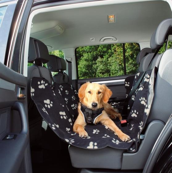 hunde autoschondecke fleece nylon optic schwarz beige hundedecke hundeshop auto reise. Black Bedroom Furniture Sets. Home Design Ideas