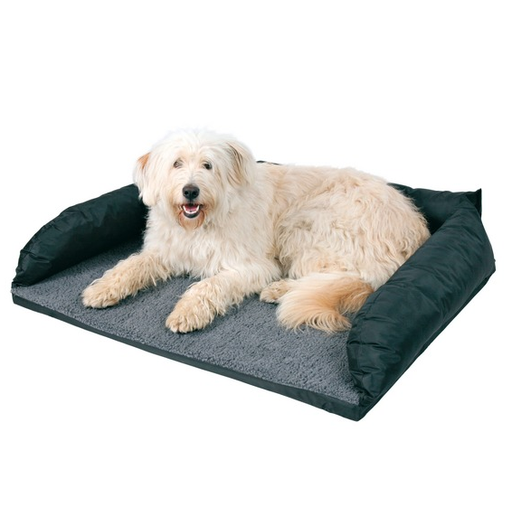 hunde auto bett 95 x 75 cm schwarz grau hundebett hundeshop auto reise transport autozubeh r. Black Bedroom Furniture Sets. Home Design Ideas